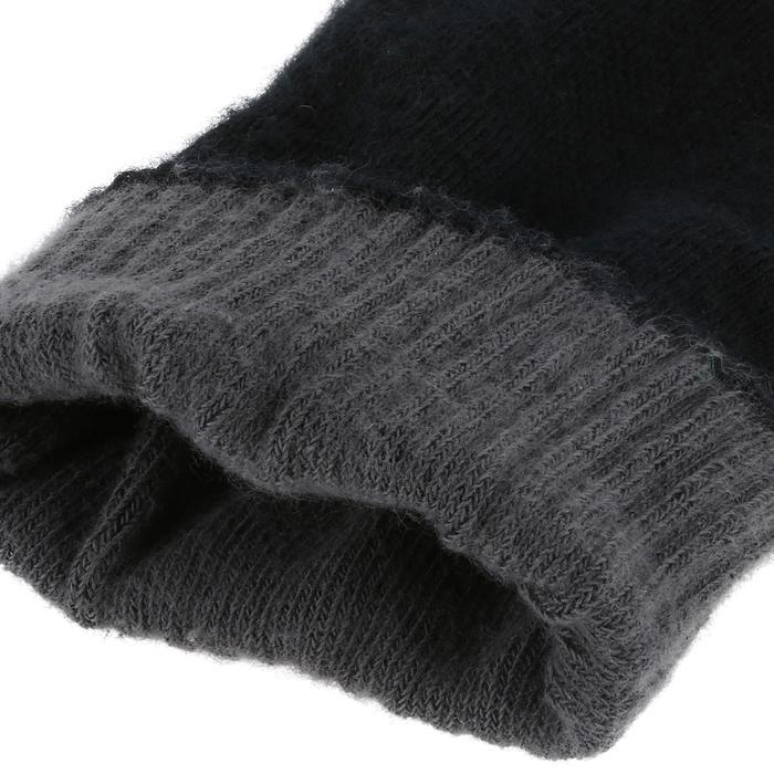 Chaussettes marche sportive Double 500 laine/coton noir
