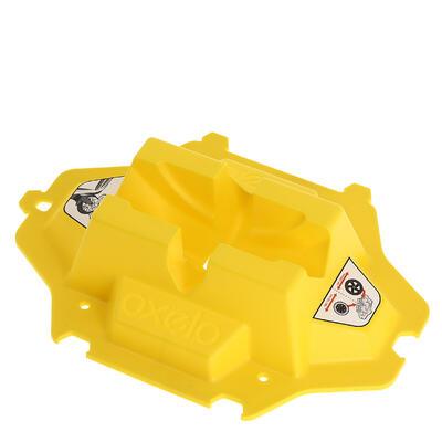 Soporte de monopatín amarillo