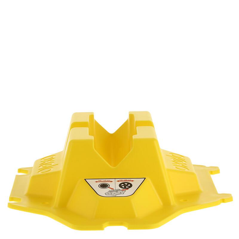 Soporte de scooter amarillo