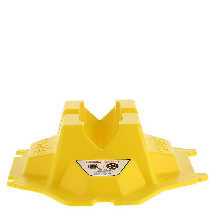 Soporte de patinete amarillo