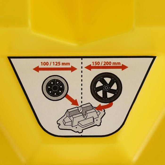 Rack support de trottinette jaune - 358696