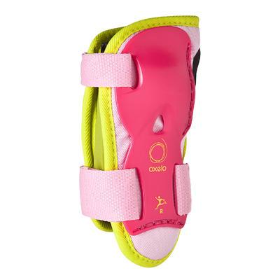 Set 3 protections roller skate trottinette enfant PLAY rose