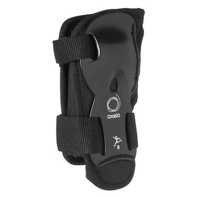 Kit de 3 protecciones roller skateboard monopatín niños PLAY negro