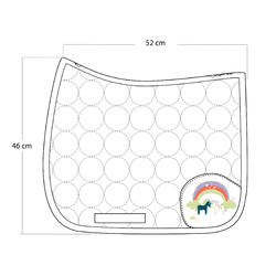 Zadeldek Love ruitersport roze - Shetlandpony - 359284