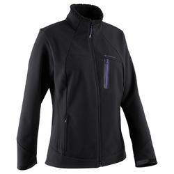 Jas softshell trekking dames Forclaz 900 X-Warm L zwart