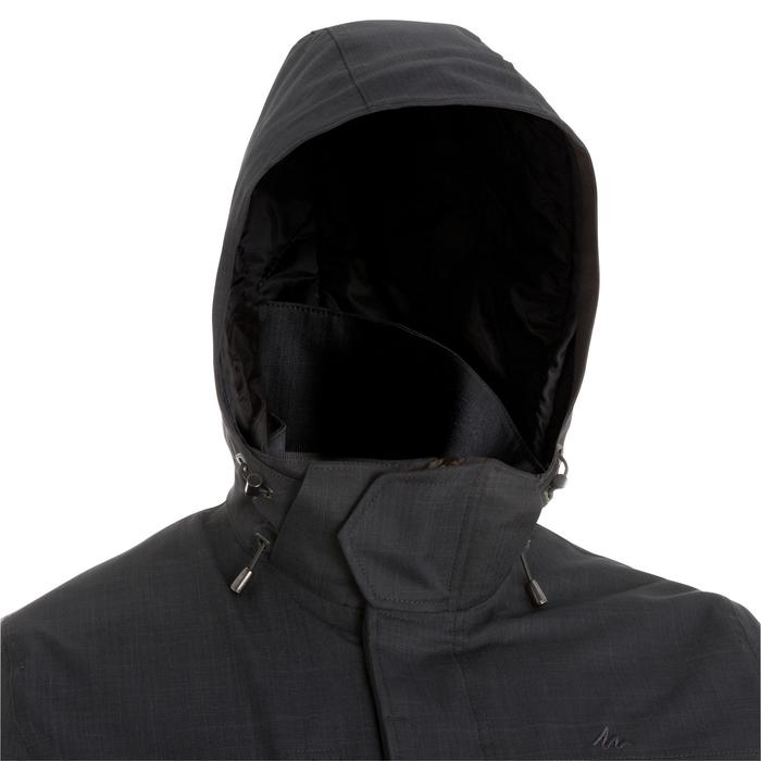 Veste 3en1 imperméable confort -15°C de trek voyage - TRAVEL 700 noire homme