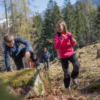 Meisjesfleece voor trekking Forclaz 20 roze