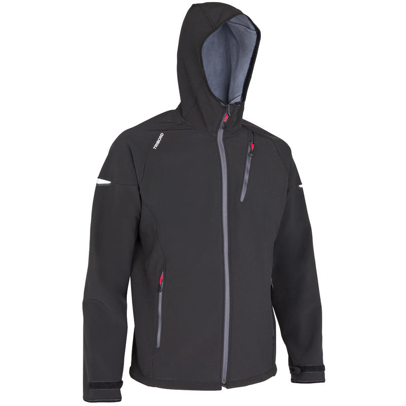 SL900 men's warm, water repellent and windproof softshell jacket - Black