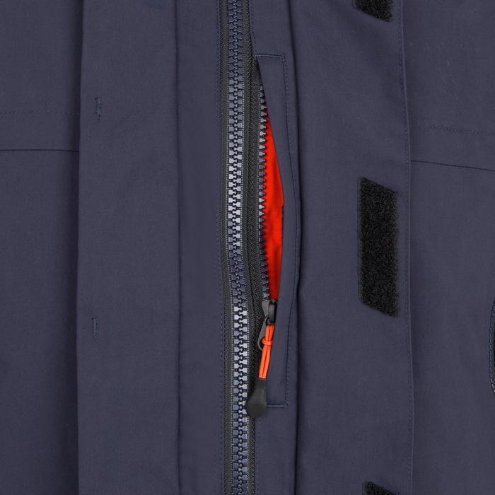 Chaqueta impermeable de vela hombre 500 azul