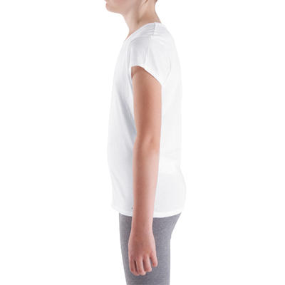T-Shirt manches courtes Gym fille blanc