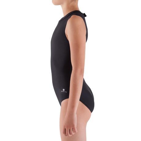 Justaucorps sans manches Gymnastique Fille (GAF et GR) noir Domyos by  Decathlon 0616abf77ad