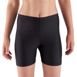 Gymshorty 100 voor meisjes (toestelturnen en ritmische gymnastiek) zwart