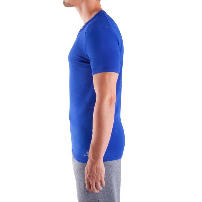 Camiseta cuello de pico DRY SKIN musculación hombre azul