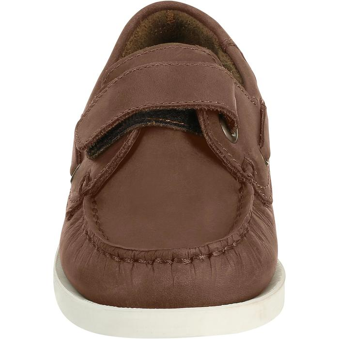 Chaussures bateau cuir enfant Cruise 500 marron - 3616