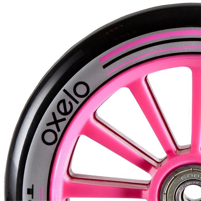 1 roue trottinette 125mm avec roulements noire - 362115