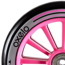 1 rueda para patinete 125 mm con rodamientos morado