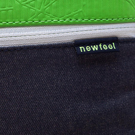 Tablet bag concrete/green