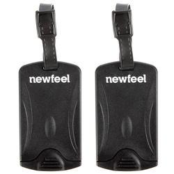 Set of 2 luggage tags - black