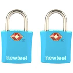 包裝有鑰匙的2把掛鎖-藍色