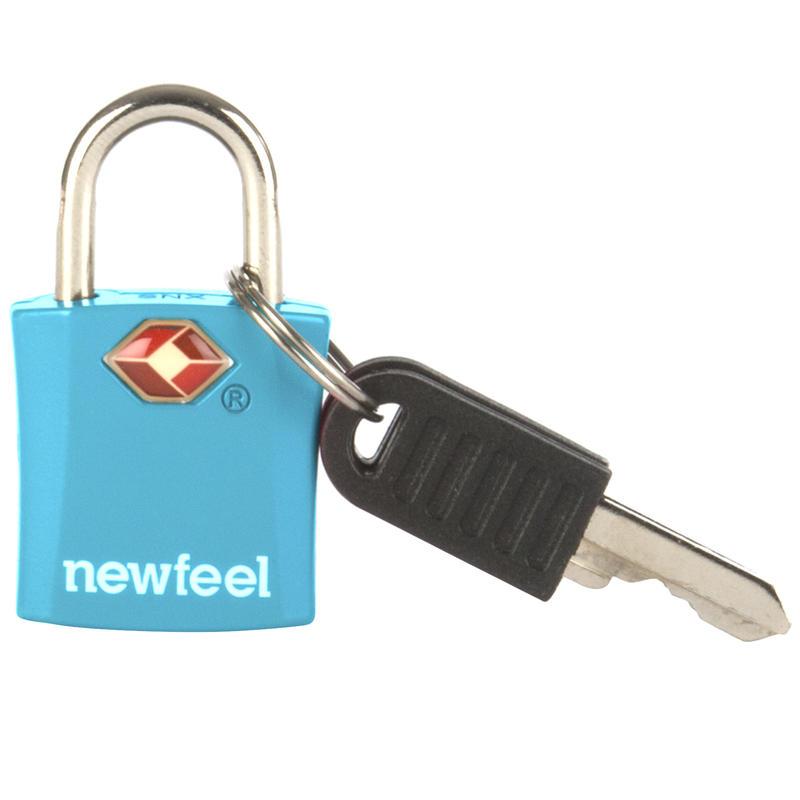 กุญแจคล้องพร้อมลูกกุญแจ แพ็ค 2 ชิ้น (สีฟ้า)