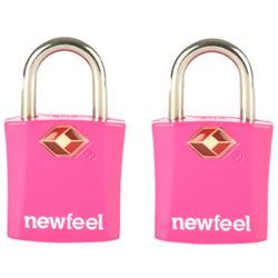 Lote de 2 Candados con llaves rosa