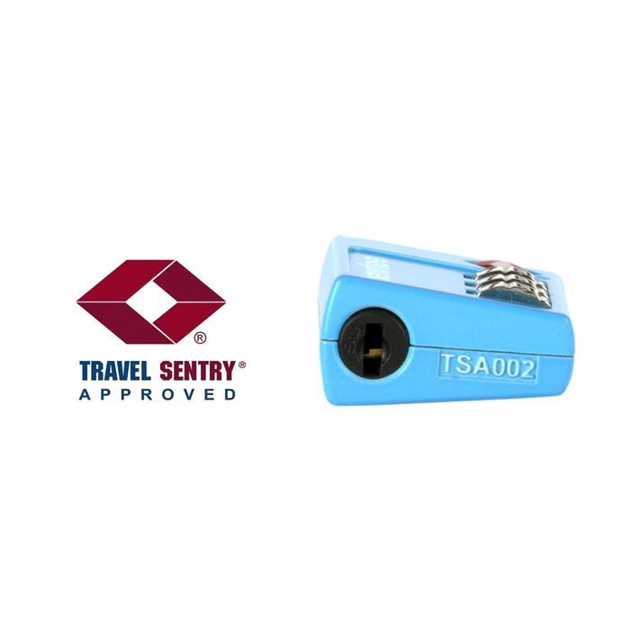 Cadenas à code TSA TRAVEL bleu