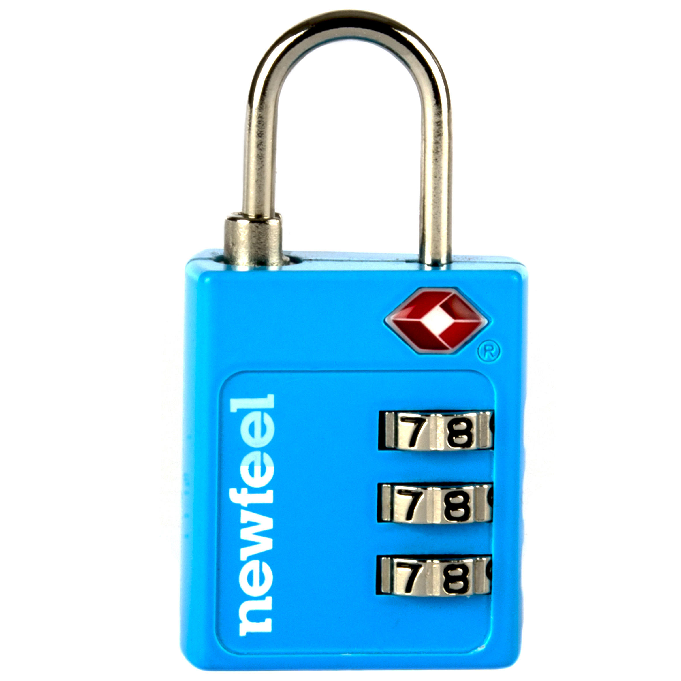 Travel TSA-Coded Padlock - Blue