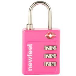 Candado con código TSA rosa