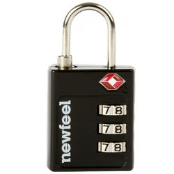 TSA Coded Travel Padlock - Black