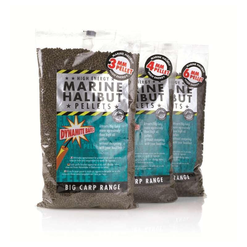 CARP BAITS, BAITING EQUIPEMENT Fishing - Marine Halibut Pellets 900g DYNAMITE BAITS - Carp Fishing