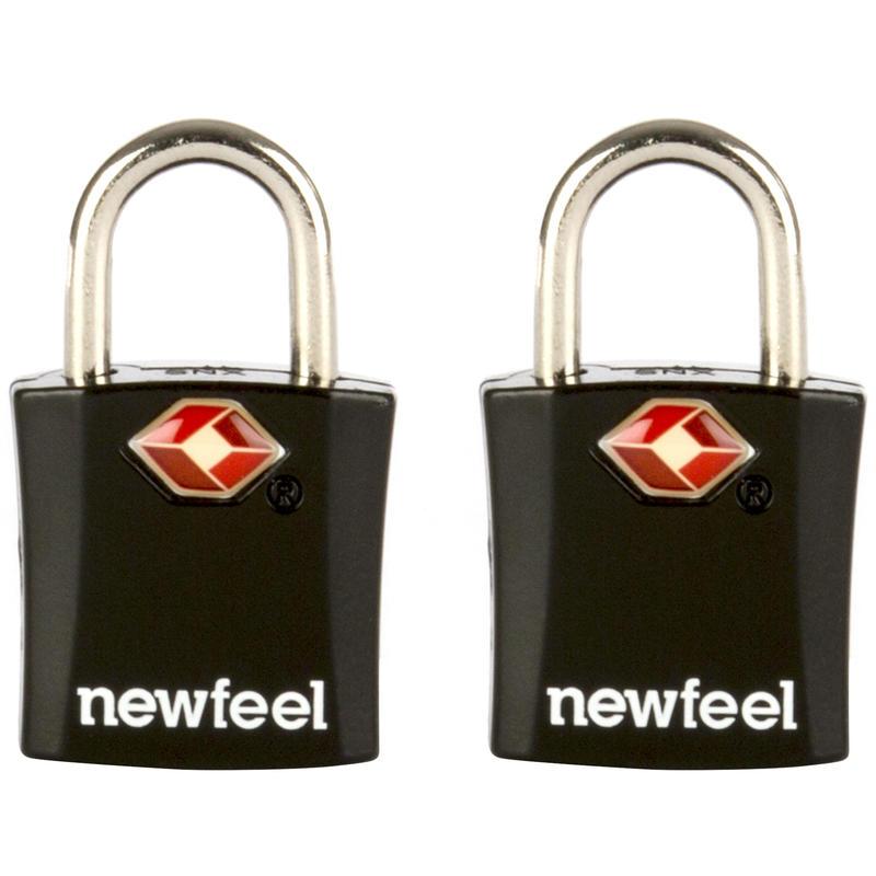 Pack de 2 candados con llave negros