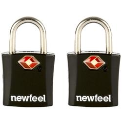 Travel Padlock Twin-Pack with Keys - Black