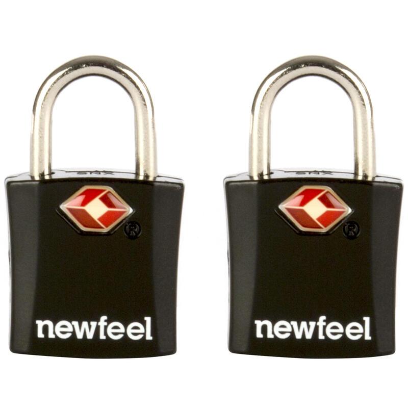 Travel Padlock Twin-Pack with Keys - Black