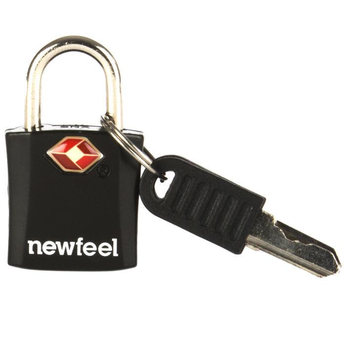 Set van 2 hangsloten met sleutel Travel zwart
