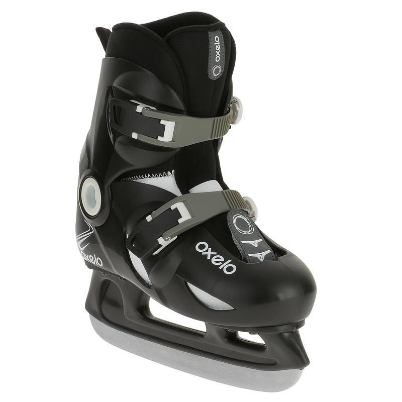 รองเท้าไอซ์สเก็ตสำหรับเด็กผู้ชายรุ่น Play 3 (สีดำ)