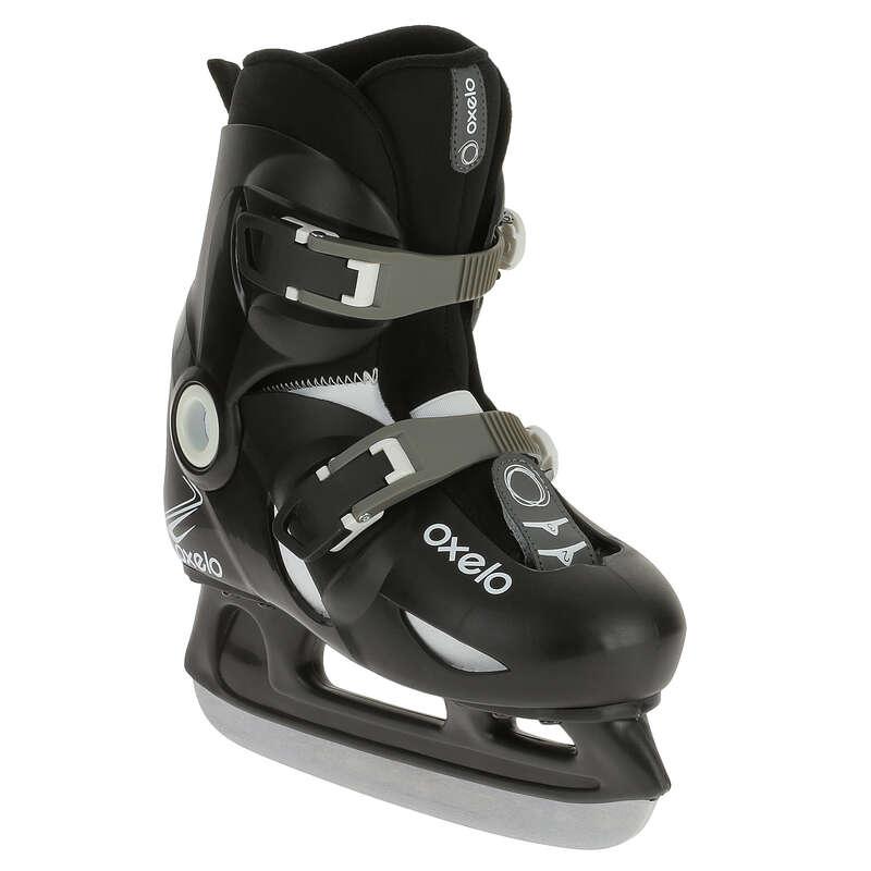 JUNIOR FITNESS ICE SKATES Ice Skating - Play 3 Ice Skates - Black OXELO - Ice Skating