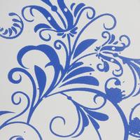 Фигурные коньки 120 WARM  женские / детские  бело-синие
