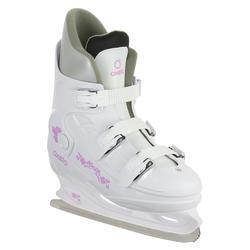 Patín sobre hielo FIT1 Mujer blanco