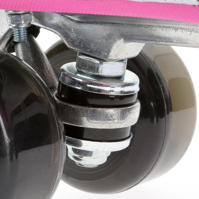 Rollschuhe Quad 5 Alu Erwachsene schwarz/rosa