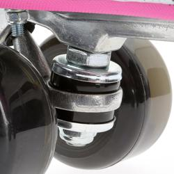 Rolschaatsen voor volwassenen Quad 5 alu zwart/roze