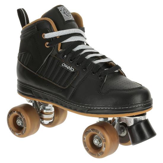 Rolschaatsen voor volwassenen Quad 5 alu zwart/brons - 365371