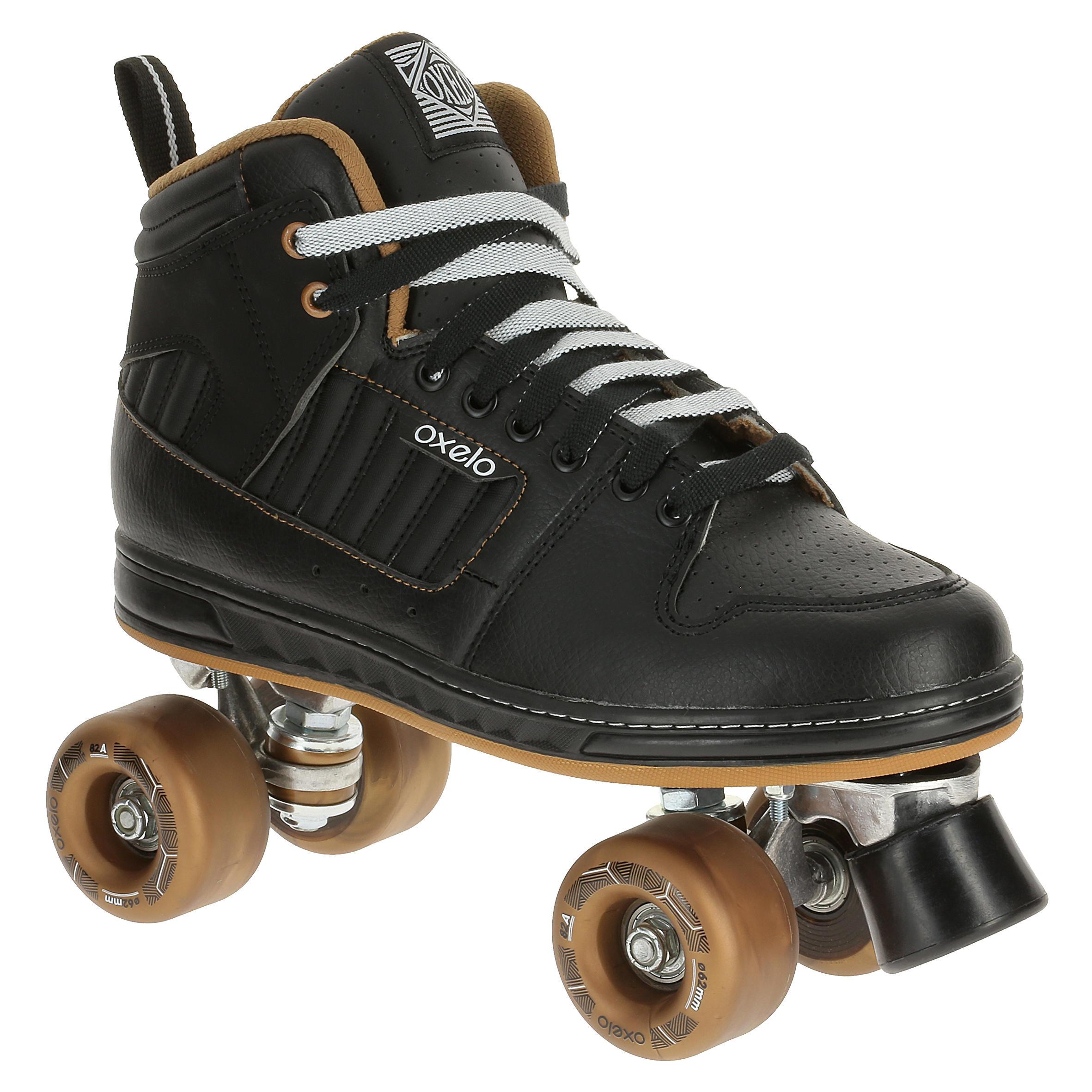 Oxelo Rolschaatsen voor volwassenen Quad 5 alu zwart/brons
