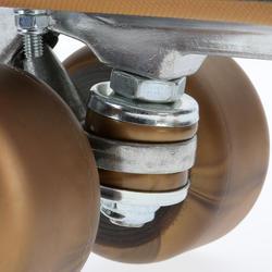 Rollschuhe Quad 5 Alu Erwachsene schwarz/bronze
