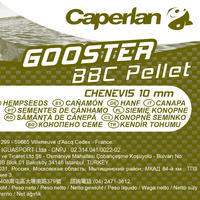 GOOSTER PELLET BBC HEMP 10MM 5KG carp fishing bait