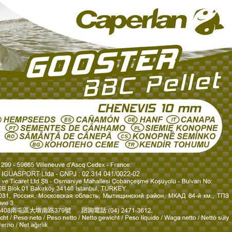 """Pašaras karpių žvejybai """"GOOSTER PELLET BBC HEMP 10MM"""", 5 kg"""