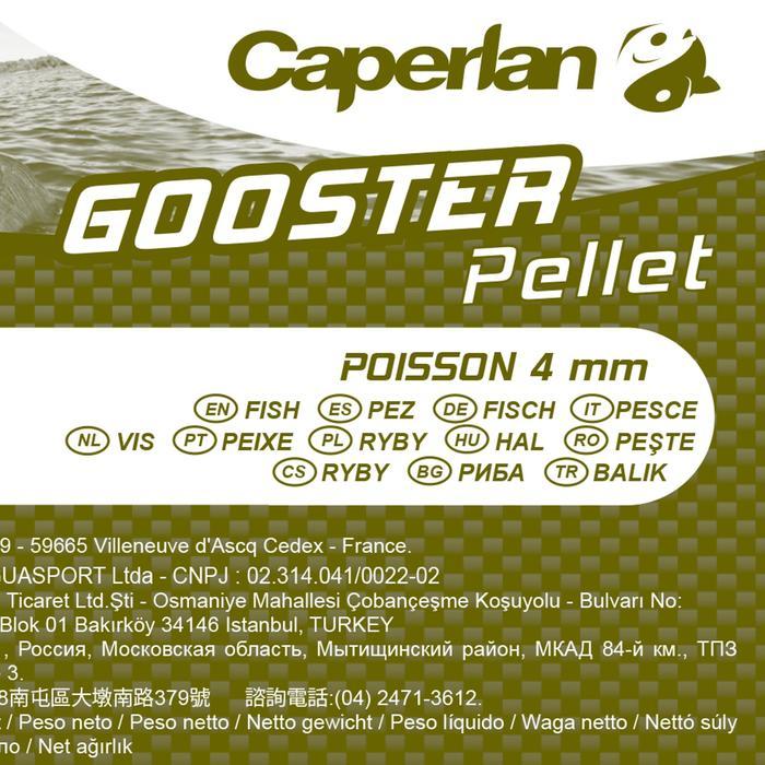 Tabletas de la carpa GOOSTER PELLET FISH 4 mm 5 kg