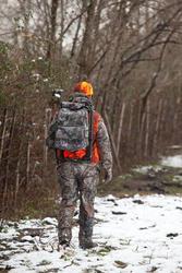 Jagersstoel met rugzak camouflage bruin - 36794