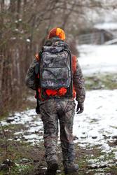 Jagersstoel met rugzak camouflage bruin - 36809
