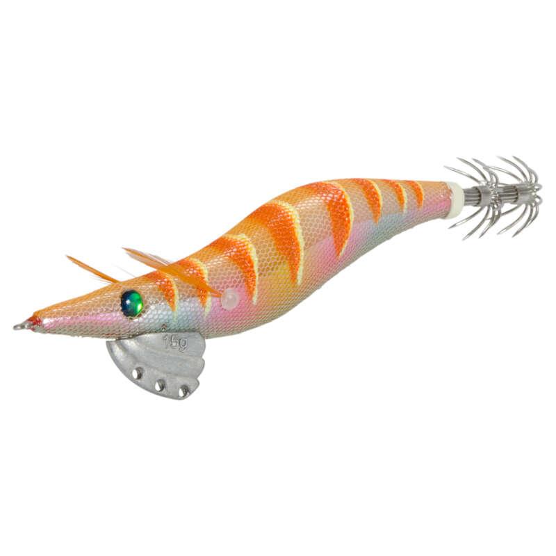 NÁSTRAHY NA SÉPIE A KALMARY Rybolov - NÁSTRAHA EBIKA 3.0 ORANŽOVÁ CAPERLAN - Návnady a nástrahy