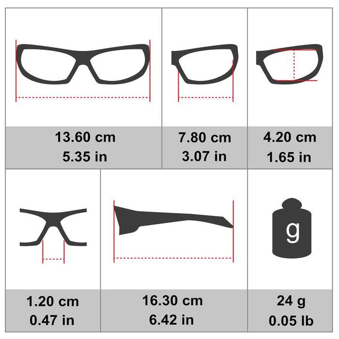 Fietsbril voor volwassenen ST 100 transparant categorie 0